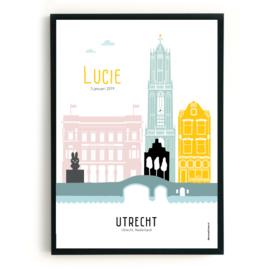 Geboorteposter Utrecht - Lucie