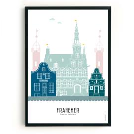 Poster Franeker  in kleur