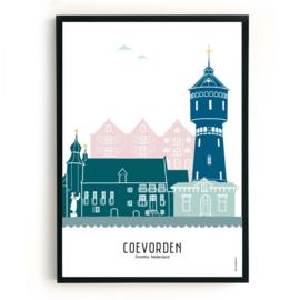 Poster Coevorden in kleur
