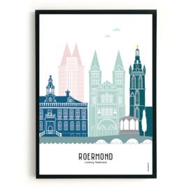 Poster Roermond in kleur
