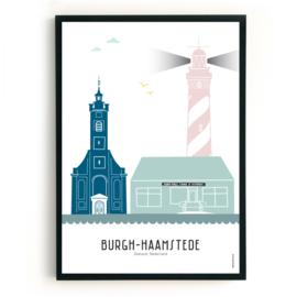 Poster Burgh-Haamstede in kleur