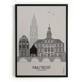 Maastricht | A4 Poster - grijs karton SALE