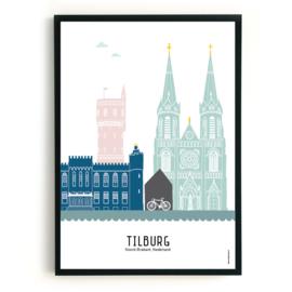 Poster Tilburg  in kleur