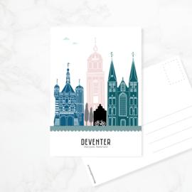 Ansichtkaart Deventer - kleur