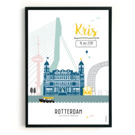 Geboorteposter Rotterdam - Kris