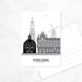 Ansichtkaart Middelburg