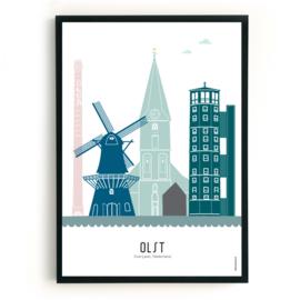 Poster Olst in kleur