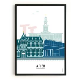 Assen | A4 Poster -  in kleur SALE