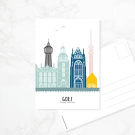 Ansichtkaart Goes - kleur