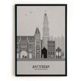 Amsterdam | A3 Poster - grijs karton SALE