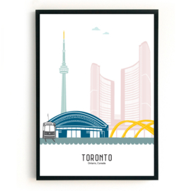 Poster Toronto in kleur