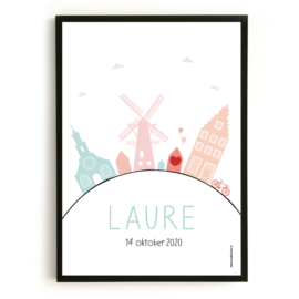 Geboorteposter Holland - Laure