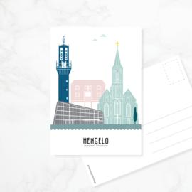 Ansichtkaart Hengelo - kleur