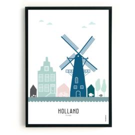 Poster Holland  in kleur