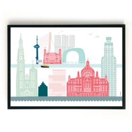 Familieposter Rotterdam-Antwerpen