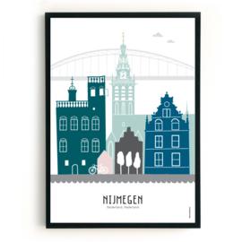 Poster Nijmegen in kleur