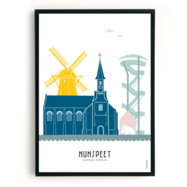 Poster Nunspeet  in kleur