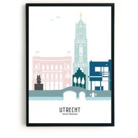 Poster Utrecht in kleur