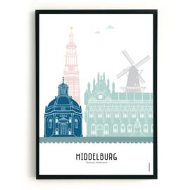 Poster Middelburg in kleur