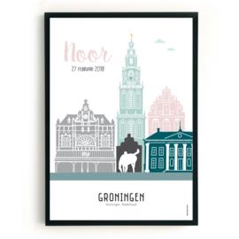 Geboorteposter Groningen - Noor