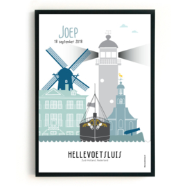 Geboorteposter Hellevoetsluis - Joep
