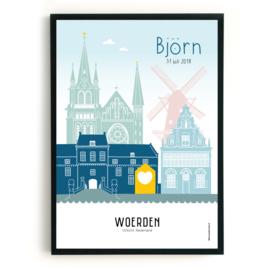 Geboorteposter Woerden - Björn