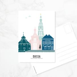 Ansichtkaart Breda - kleur