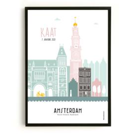 Geboorteposter Amsterdam - Kaat