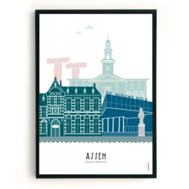 Poster Assen in kleur