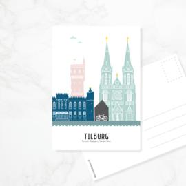 Ansichtkaart Tilburg - kleur