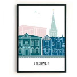 Poster Steenwijk in kleur