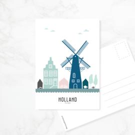 Ansichtkaart Holland - kleur