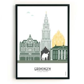 Poster Groningen - custom kleuren