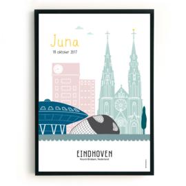 Geboorteposter Eindhoven - Juna