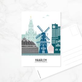 Ansichtkaart Haarlem - kleur