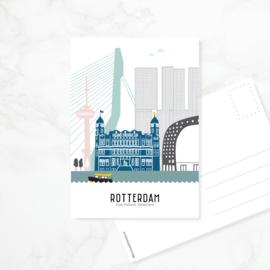 Ansichtkaart Rotterdam - kleur
