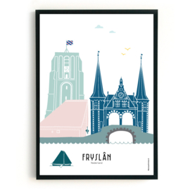 Poster Fryslân in kleur | Friesland