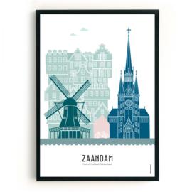 Poster Zaandam in kleur