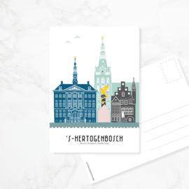 Ansichtkaart Den Bosch - kleur
