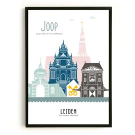 Geboorteposter Leiden - Joop