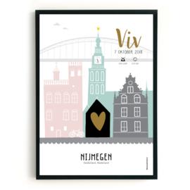 Geboorteposter Nijmegen - Viv