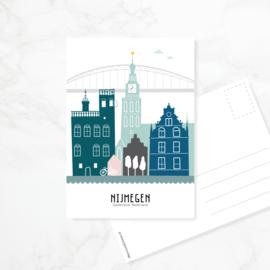 Ansichtkaart Nijmegen - kleur