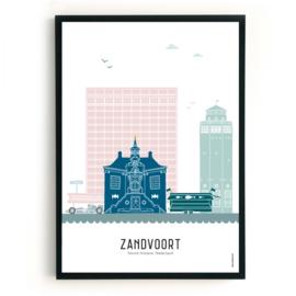 Poster Zandvoort in kleur