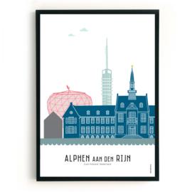 Poster Alphen aan den Rijn in kleur