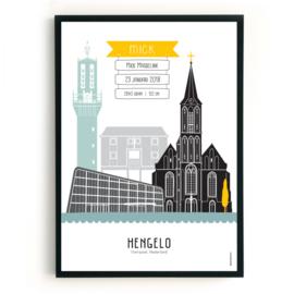 Geboorteposter Hengelo - Mick
