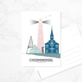 Ansichtkaart Schiermonnikoog - kleur