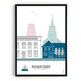 Poster Numansdorp in kleur