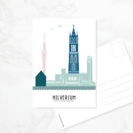 Ansichtkaart Hilversum - kleur