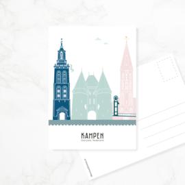 Ansichtkaart Kampen - kleur