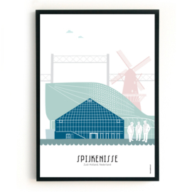 Poster Spijkenisse in kleur